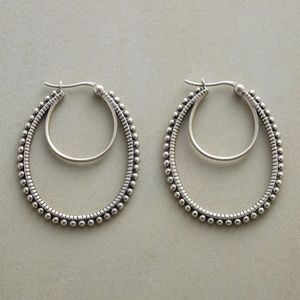 NEW Sundance Catalog Sterling Silver Double Hoops